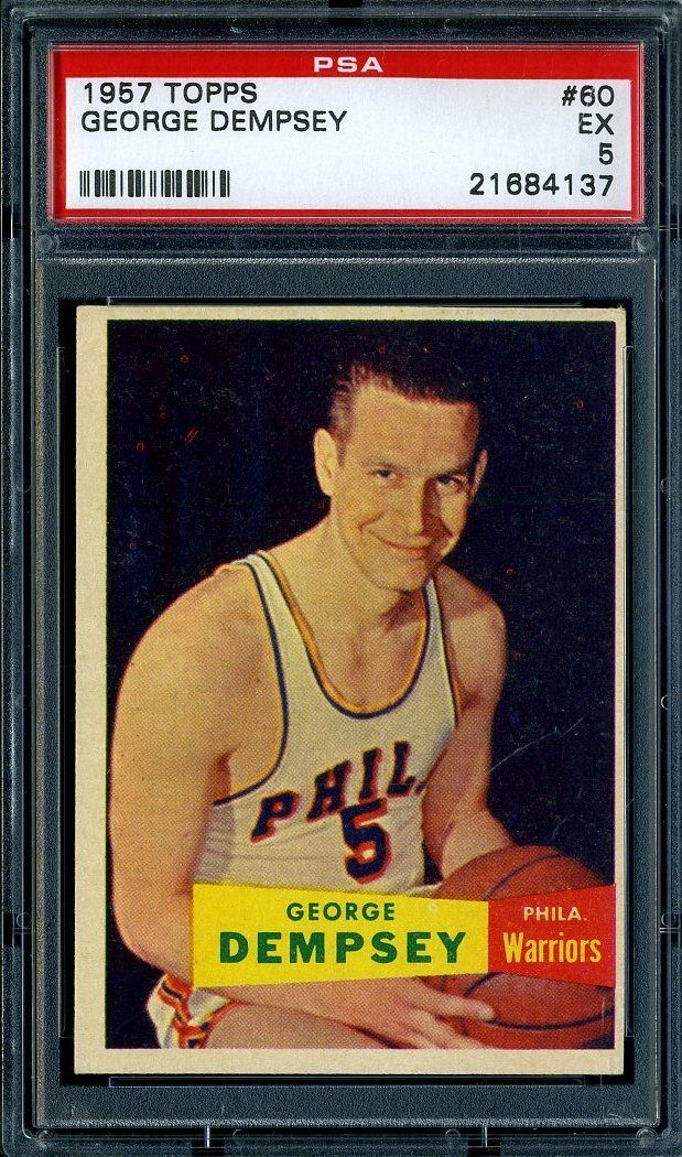 1957 TOPPS #60 GEORGE DEMPSEY PSA 5 WARRIORS