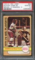 1972-73 O-PEE-CHEE #63 PLAYOFF GAMES 6 PSA 10 POP 2