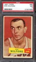 1957 TOPPS #65 WIN WILFONG DP PSA 7
