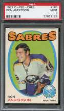 1971-72 O-PEE-CHEE #163 RON ANDERSON PSA 9