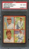 1935 GOUDEY R321 4 IN 1 #8 LARRY BENTON/BEN CANTWELL/FLINT RHEM/AL SPOHRER PSA 4