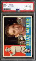 1960 TOPPS #173 BILLY MARTIN PSA 8 NICELY CENTERED