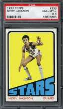 1972-73 TOPPS #233 MERV JACKSON PSA 8.5 NICELY CENTERED
