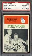 1961-62 FLEER #65 JACK TWYMAN PSA 6 HOF