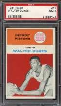 1961-62 FLEER #11 WALTER DUKES PSA 7