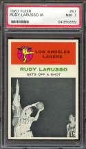 1961-62 FLEER #57 RUDY LARUSSO PSA 7