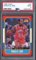 1986-87 FLEER #35 WORLD B. FREE PSA 9