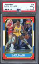 1986-87 FLEER #58 CLARK KELLOGG PSA 9 RC ROOKIE