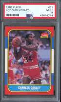 1986-87 FLEER #81 CHARLES OAKLEY PSA 9 RC ROOKIE