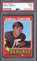 1971 TOPPS #140 VIRGIL CARTER PSA 7 RC ROOKIE NICELY CENTERED