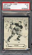 1936-37 O-PEE-CHEE V304D #113 ART WIEBE PSA 5 RC ROOKIE CENTERED