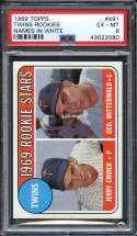 1969 TOPPS #491 JERRY CRIDER/GEORGE MITTERWALD TWINS ROOKIES PSA 6 RC ROOKIE NICELY CENTERED