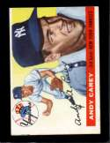 1955 TOPPS #20 ANDY CAREY EX (MC)