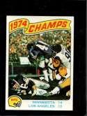 1975 TOPPS #527 1974 NFC CHAMPIONSHIP EX CENTERED