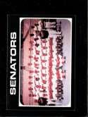 1971 TOPPS #462 SENATORS TEAM EXMT+ NICELY CENTERED