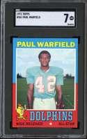 1971 TOPPS #261 PAUL WARFIELD SGC 7 HOF