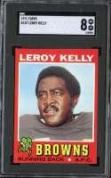 1971 TOPPS #157 LEROY KELLY SGC 8 HOF
