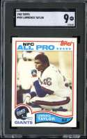 1982 TOPPS #434 LAWRENCE TAYLOR SGC 9 RC ROOKIE HOF CENTERED