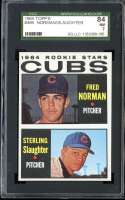 1964 TOPPS #469 FRED NORMAN/STERLING SLAUGHTER CUBS ROOKIES SGC 7 RC ROOKIE
