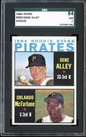 1964 TOPPS #509 GENE ALLEY/ORLANDO MCFARLANE PIRATES ROOKIES SGC 7 RC ROOKIE