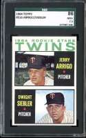 1964 TOPPS #516 GERRY ARRIGO/DWIGHT SIEBLER TWINS ROOKIES SGC 7.5 RC ROOKIE