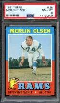 1971 TOPPS #125 MERLIN OLSEN PSA 8 HOF