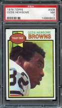 1979 TOPPS #308 OZZIE NEWSOME PSA 7 RC ROOKIE HOF NICELY CENTERED