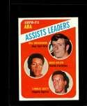 1971-72 TOPPS #151 BILL MELCHIONNI/MACK CALVIN/CHARLIE SCOTT ABA ASSIST LEADERS EXMT