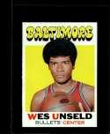 1971-72 TOPPS #95 WES UNSELD DP EXMT+ HOF