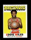 1971-72 TOPPS #44 EDDIE MILES NM