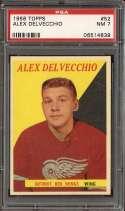 1958-59 TOPPS #52 ALEX DELVECCHIO PSA 7 HOF