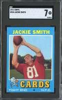 1971 TOPPS #244 JACKIE SMITH SGC 7 HOF