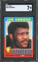 1971 TOPPS #245 JOE GREENE SGC 7 RC ROOKIE HOF