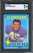 1971 TOPPS #253 ED SHAROCKMAN SGC 7
