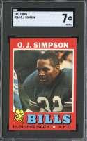 1971 TOPPS #260 O.J. SIMPSON SGC 7 HOF