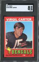 1971 TOPPS #140 VIRGIL CARTER SGC 8 RC ROOKIE