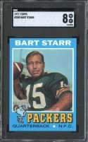1971 TOPPS #200 BART STARR SGC 8 HOF
