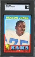 1971 TOPPS #209 DEACON JONES SGC 8 HOF