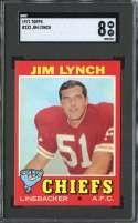 1971 TOPPS #232 JIM LYNCH SGC 8