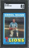 1971 TOPPS #247 ERROL MANN SGC 8