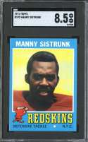 1971 TOPPS #192 MANNY SISTRUNK SGC 8.5 RC ROOKIE
