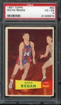 1957 TOPPS #50 RICHIE REGAN RC PSA 4 ROYALS
