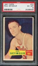 1957 TOPPS #72 PAUL SEYMOUR RC PSA 6 NATS