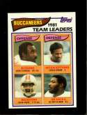 1982 TOPPS #495 JEFF ECKWOOD/CEDRIC BROWN/KEVIN HOUSE/LEE ROY SELMON TL NMMT
