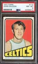 1972-73 TOPPS #110 JOHN HAVLICEK PSA 8 HOF