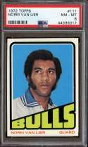 1972-73 TOPPS #111 NORM VAN LIER PSA 8 NICELY CENTERED