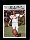 1966 PHILADELPHIA #158 JIM BAKKEN NM