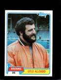 1981 TOPPS #505 LYLE ALZADO EXMT NICELY CENTERED