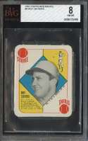 1951 TOPPS RED BACKS #9 ROY SIEVERS BVG 8