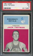 1961-62 FLEER #42 JACK TWYMAN PSA 5 HOF